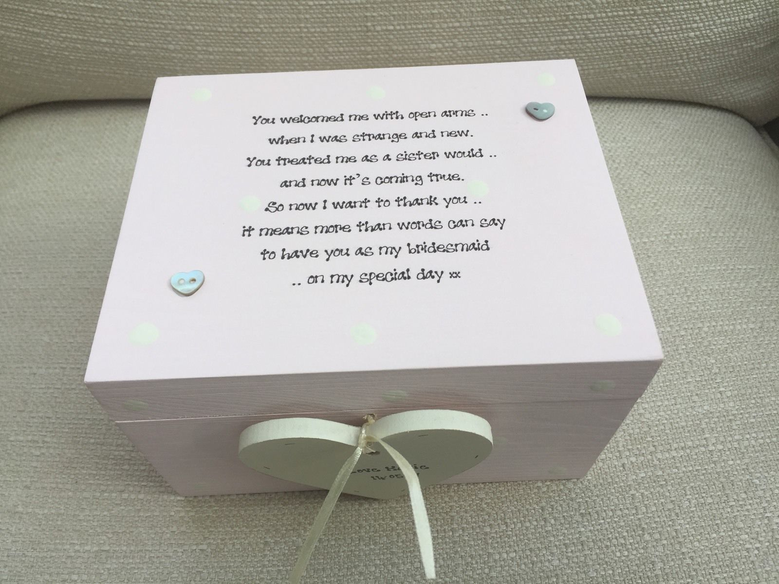 Personalised Wedding Gifts Uk: Shabby Personalised Chic Bridesmaid Sister To Be Sister In